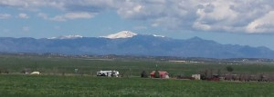A View of Pikes Peak from Pueblo West